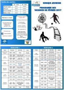 Programme Février 2017