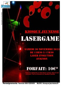 lasergame 30 nov