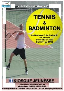 tennis+badminton kiosque jeunesse
