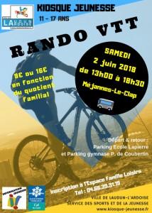 RANDO VTT 02 JUIN 2018
